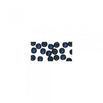 dřevěné korálky lakované, pr.6mm, 115ks - tm.modré