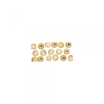 dřevěné korálky lakované,pr.6mm,115ks -přírodní