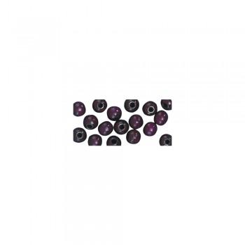 dřevěné korálky lakované, pr.6mm, 115ks - tm.fialové