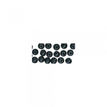 dřevěné korálky lakované, pr.6mm, 115ks - černé