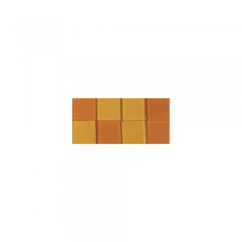 Mozaika akrylová 1x1cm, 205ks, oranžová