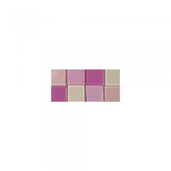 Mozaika akrylová 1x1cm, 205ks, růžová