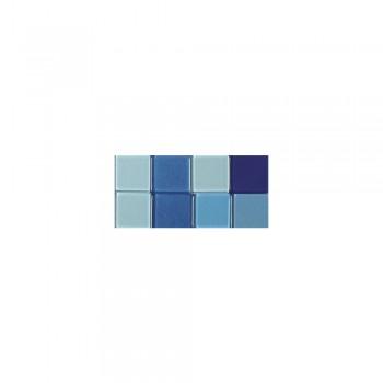 Mozaika akrylová 1x1cm, 205ks, modrá