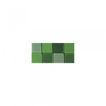 Mozaika akrylová 1x1cm, 205ks, tm. zelená