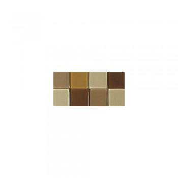 Mozaika akrylová 1x1cm, 205ks, hnědá