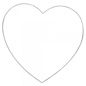Srdce kovové - vel. 25cm, pr. drátu 0,2cm