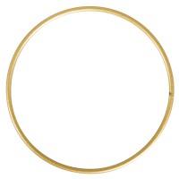 Kovový kruh 25cm - zlatý