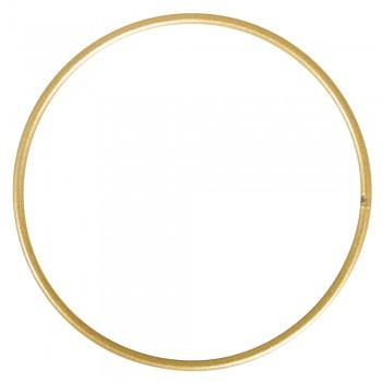 Kovový kruh 15cm - zlatý