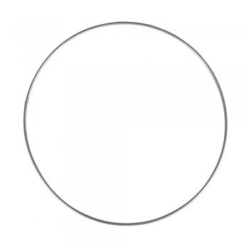Kovový kruh, stříbrný - 10cm