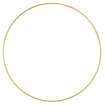 Kovový kruh, 30cm - zlatý