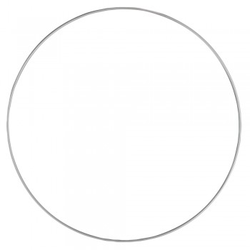 Kovový kruh, 30cm - stříbrný