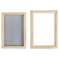 Rámeček na výrobu ručního papíru, 24x15,5cm