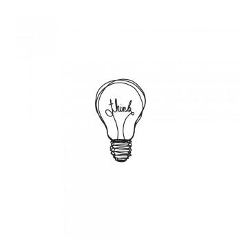 """Dřevěné razítko """"žárovka"""", 2x3cm"""