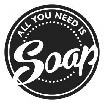"""Odlévací šablonka """"All you need is Soap"""", 45mm ø, 1ks"""