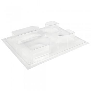 Odlévací forma - domečky, 5,5 - 10,5cm, hloubka 3cm