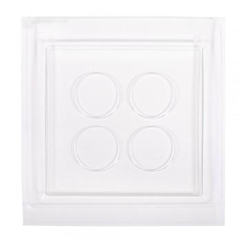 Odlévací forma - dekorativní podtác se 4 prohlubněmi, 25x25x2cm