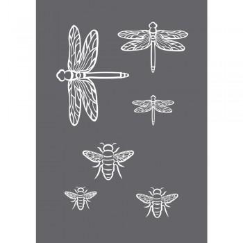 Sítotisková šablona A5 - Vážky + včely
