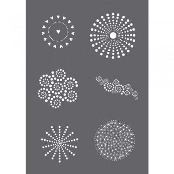 Sítotisková šablona A5 - Tečkované motivy