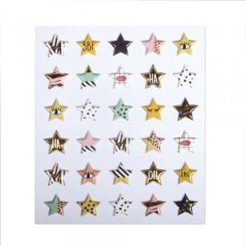 Samolepící dekorace - hvězdičky, 30ks