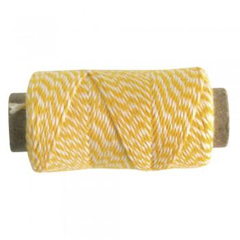 Nit melírovaná, pr.1mm , žluto-bílá, 12g, cca. 35m