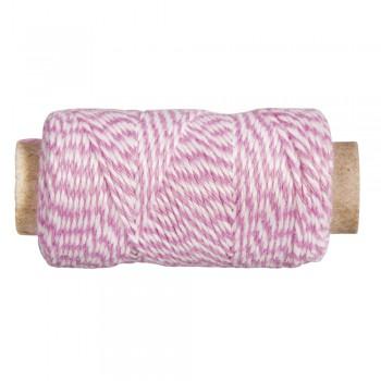 Nit melírovaná,  pr.1mm , růžovo-bílá, 12g, cca. 35m