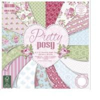Blok scrap. papírů - Pretty Posy,15,2x15,2cm, 200 g/m2, 64 listů