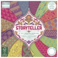Blok scrap. papírů - Storyteller, 15,2x15,2cm, 150 g/m2, 64listů