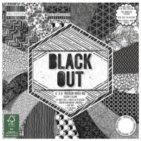 Blok scrap. papírů - Black Out, 15,2x15,2cm, 150 g/m2, 64listů