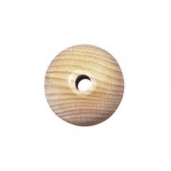 Dřevěný korálek, přírodní, 15mm, průvlek 4mm