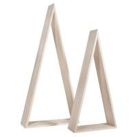 Dřevěné rámečky - trojúhelníky velké, 20x7,5cmx42cm + 26x8x54cm