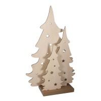 Dřevěné vánoční stromy - 54x32x12cm