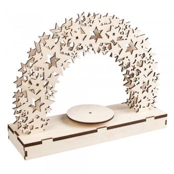 """Dřevěná stavebnice 3D - """"Hvězdy"""", s otáčející destičkou, 30x9x23cm"""