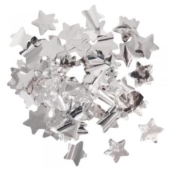 Konfety - hvězdy - fólie stříbrná, pr.3cm, 15g