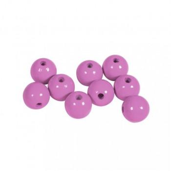 Dřevěné korálky lakované, pr.12mm, 32ks - růžové
