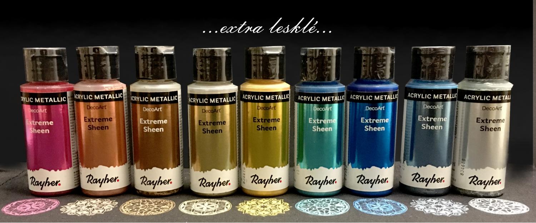 Akrylové barvy Extreme sheen