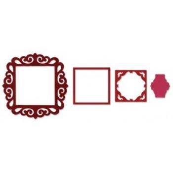 výsekové nože Framelits - krajka čtvercová - 3ks