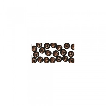 dřevěné korálky lakované, pr.8mm, 82ks - tm.hnědé