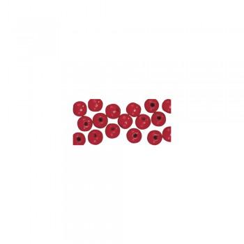 dřevěné korálky lakované, pr.8mm, 82ks - červené