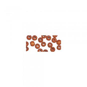 dřevěné korálky lakované, pr.8mm, 82ks - oranžové