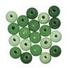 Dřevěné korálky, 8mm, mix zelený, 82ks