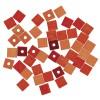 dřevěné korálky - kostičky 6mm, 45ks -oranžová směs