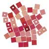dřevěné korálky - kostičky 6mm, 45ks -růžová směs