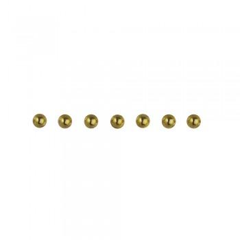 perličky plastové samolepící - zlaté, 2 mm, 160 ks