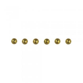 perličky plastové samolepící - zlaté, 3 mm, 120 ks