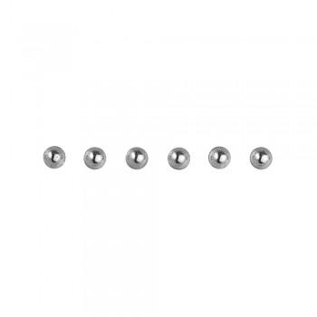 Perličky plastové samolepící -stříbrné, 3 mm, 120 ks