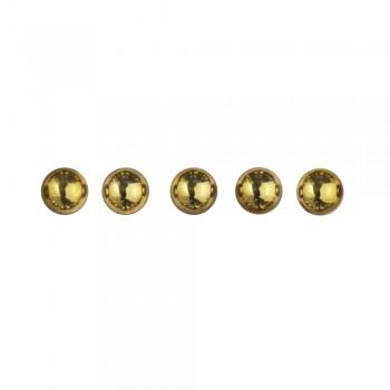 perličky plastové samolepící - zlaté, 5 mm, 80 ks