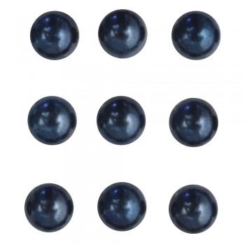 Perličky plastové samolepící - tm.modré¸ 5 mm,  80 ks