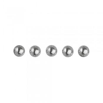 Perličky plastové samolepící -stříbrné, 5 mm,  80 ks
