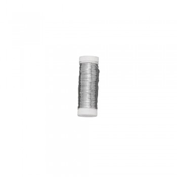 Drát stříbrný, měděné jádro pr.0,4mm, 40m