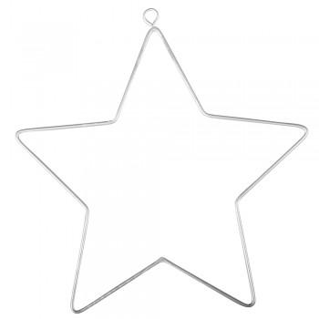 Drátěný polotovar - hvězda velká, 11,5x12,5cm, 2ks